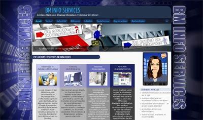 Aperçu du Site Internet bminfoservices.com