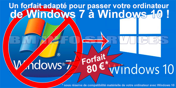 de Windows 7 à Windows 10